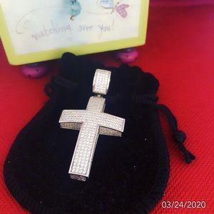 AMG 925 diamonds cross. Men